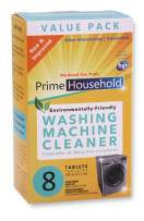 PrimeHousehold Eco-Friendly Washing Machine Cleaner, 8-XL-Tablets, Recyclable Box
