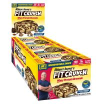 FIT Crunch Protein Brownies | Designed by Robert Irvine | World's Best Protein Brownie | 190 Calories, 15G of Protein & Soft Brownie Texture (12 Brownies, Cookie Dough)
