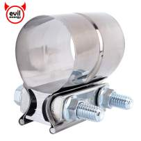 "EVIL ENERGY 2.25"" Lap Joint Exhaust Band Clamp Exhaust Repair Preformed 304 Stainless Steel"