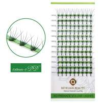 BEYELIAN Premade Fans Eyelash Extensions Volume Sets Professional Use False Eyelashes D Curl 0.10mm 5D Root Glue Bonded Knot-free Natural Looking Soft Lightweight Easy to Apply (14mm)
