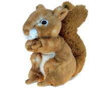 DolliBu Plush Squirrel Stuffed Animal - Soft Fur Huggable Brown Squirrel, Adorable Playtime Squirrel Plush Toy, Cute Wild Life Cuddle Gifts, Super Soft Plush Doll Animal Toy for Kids & Adults - 8 Inch