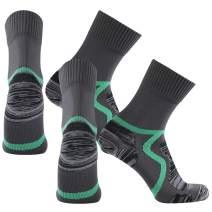 SuMade 100% Waterproof Socks, Unisex Men Women Breathable Dry Fit Moisture Wicking Hiking Cycling Crew Socks