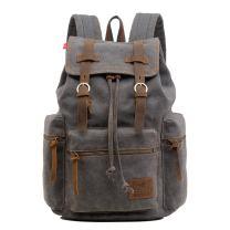 PKUVDSL Canvas Backpack, Men Women Backpack Purse, Vintage Bookbag Rucksack for Travel School Carry on College