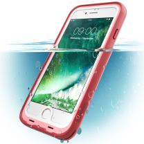 i-Blason Aegis Series Case Designed for iPhone 7/ iPhone 8, Waterproof Full-Body Rugged Case, Pink , 4.7""