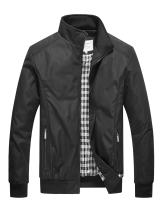 DAVID.ANN Mens Casual Jacket Outdoor Sportswear Windbreaker Lightweight Bomber Jackets and Coats