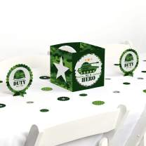 Big Dot of Happiness Camo Hero - Army Military Camouflage Party Centerpiece and Table Decoration Kit