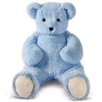 Vermont Teddy Bear Giant Stuffed Bear - Giant Stuffed Animal, 4 Foot, Light Blue, Cuddle