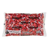 HERSHEY'S KISSES Bulk Milk Chocolate Pride Candy, Ships With Cool Packs, 4.1 Pounds, Red Foils, ~400 Pieces