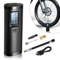 Portable Air Compressor - Vastar Mini Air Pump Tyre Inflator 100PSI / 2000mAh Rechargeable Lithium Battery with Digital LCD LED Light, Air Pressure Detection and Automatic for Car Bicycle Ball Tires