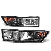 Replacement for Cadillac Escalade ESV EXT Pair of Bumper Driving Fog Lights (Clear Lens)
