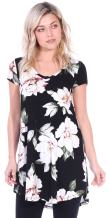 Popana Women's Short Sleeve Summer Tunic Top for Leggings Plus Size Made in USA