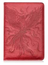 Phoenix Writing Journal by SohoSpark, Refillable Faux Leather, Lined Personal Diary for Travel, 6x8.75 Notebook for Writers. Fountain Pen Safe with Lay-Flat Binding.