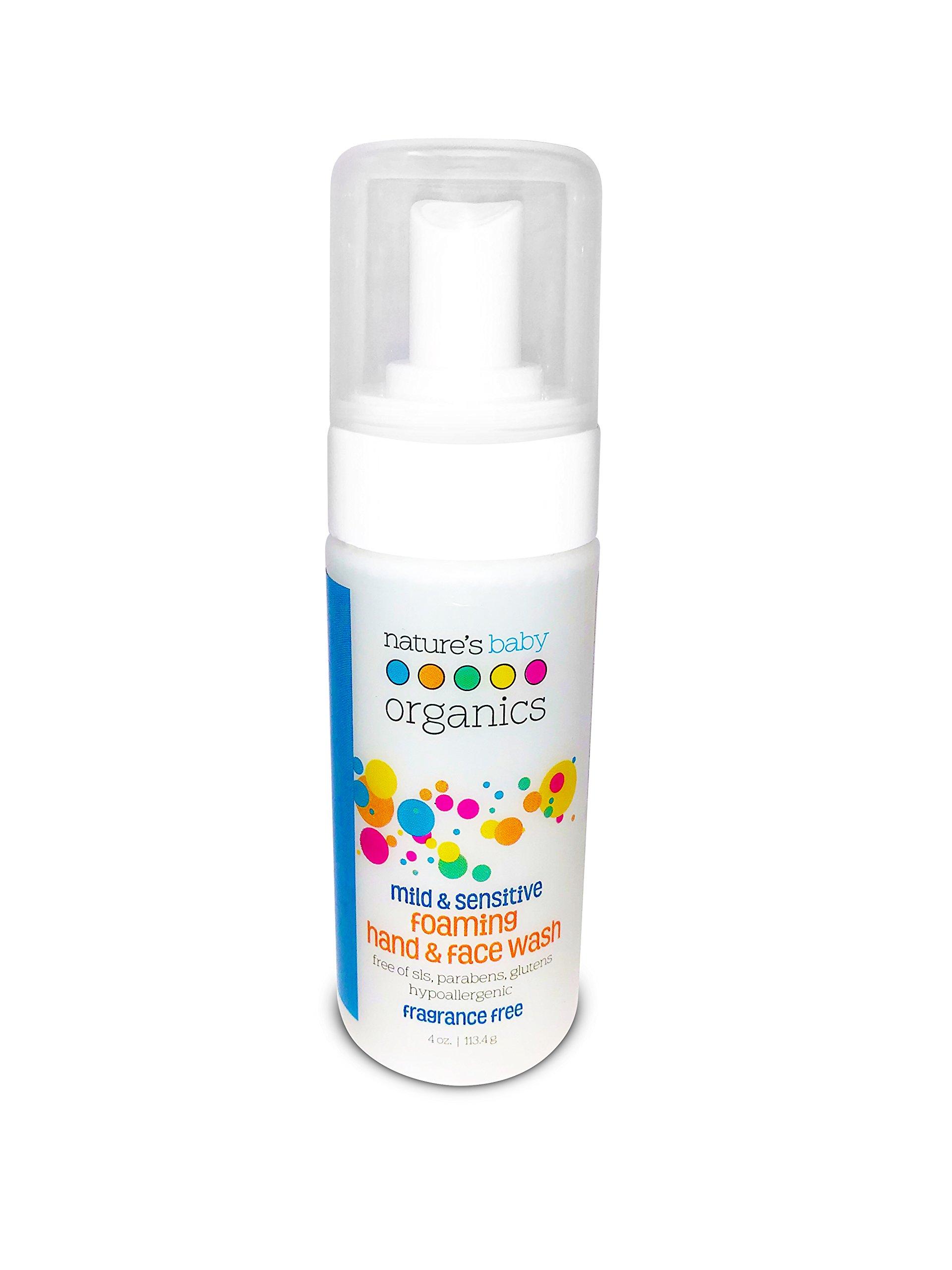 Nature's Baby Organics Nature s Baby Organics Mild Sensitive Foaming Hand Face Wash Fragrance Free 4 oz 113 4 g