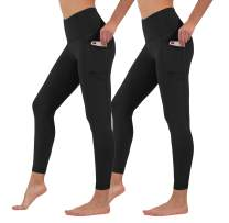 Yogalicious High Waist Ultra Soft 7/8 Ankle Length Leggings with Pockets for Women