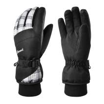 KINEED Waterproof Ski Gloves Touchscreen 3M Thinsulate Winter Warm Snow Gloves for Women Youth