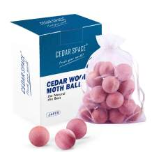 Cedar Balls for Clothes Storage and Drawers - 24 Pcs Cedar Blocks 100% Natural Aromatic Red Cedar Wooden Balls