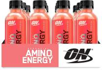 Optimum Nutrition Essential Amino Energy Ready-To-Drink, Watermelon, Keto Friendly BCAAs, Preworkout and Essential Amino Acids with Green Tea and Green Coffee Extract, 12 Pack
