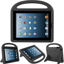 Kids Case for iPad 2 3 4 - TIRIN Shock Proof Convertible Handle Light Weight Durable Super Protective Stand Cover for iPad 4, iPad 3 & iPad 2 2nd 3rd 4th Generation Tablet,Black
