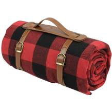 87 X 67 Inch Oversized Picnic Blanket, Waterproof Beach Mat, Extra Large Outdoor Rug for Camping Red Checkered