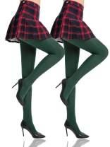 HONENNA Women's Control Top High Elastic Soft Opaque Pantyhose Tights…