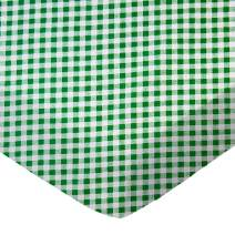 SheetWorld Fitted Pack N Play (Graco Square Playard) Sheet - Green Gingham Check - Made In USA
