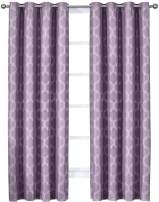 Royal Bedding Alana Purple Curtains, Top Grommet 100% Blackout, Thermal Insulated Window Curtain Panels, Pair/Set of 2 Panels, 54Wx84L inches Each