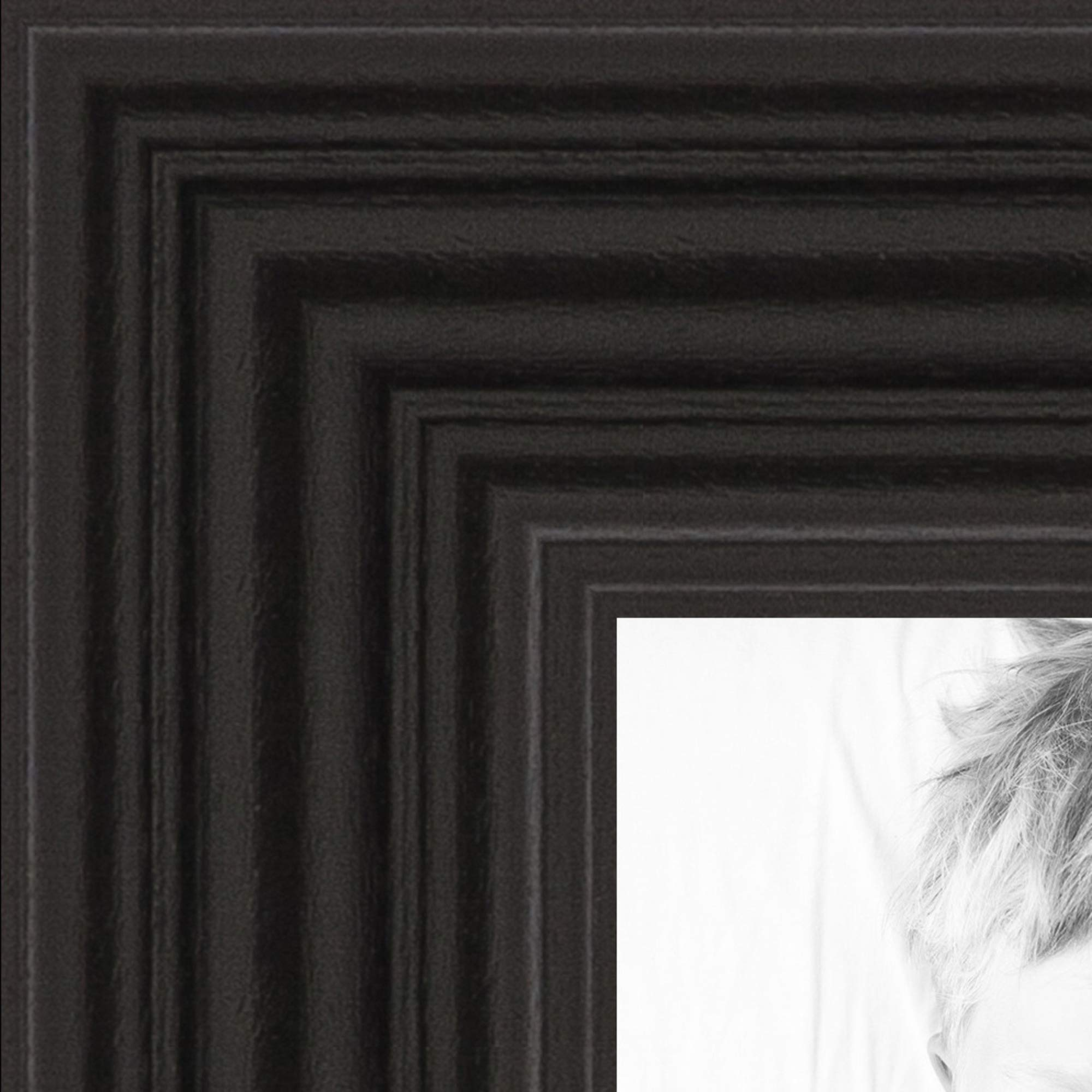 ArtToFrames 6x33 inch Black Stain on Red Leaf Maple Wood Picture Frame, 2WOM0066-60823-YBLK-6x33