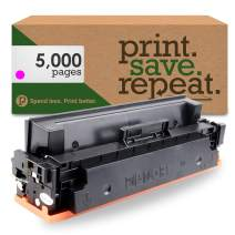 Print.Save.Repeat. HP 410X Magenta (CF413X) High Yield Compatible Toner Cartridge for Color Laserjet Pro M377, M452, M477 [5,000 Pages]
