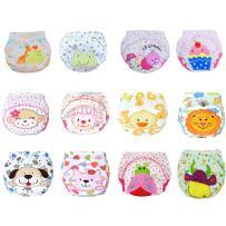 12Pcs Baby Boys Girls Toddler Toilet Pee Potty Training Pants Cartton Underwear Size L