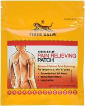 """Tiger Balm Patches, 4"""" 5/Pack – Pain Relieving Patch – for Temporary Relief of Minor Aches of Muscles and Joints – Formulated with Menthol, Camphor, and Capsicum – Fast-Acting Relief Patches for Back"""