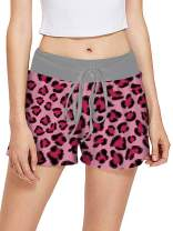 RAISEVERN Women's Drawstring Pajamas Shorts Bottoms Casual Summer Beach Shorts