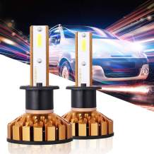 HOLOON H1 Led Headlight Bulb, 10000LM Extremely Bright CSP Chips Car LED Headlight Bulbs All-in-One Conversion Kit - 6000K Cool White Light