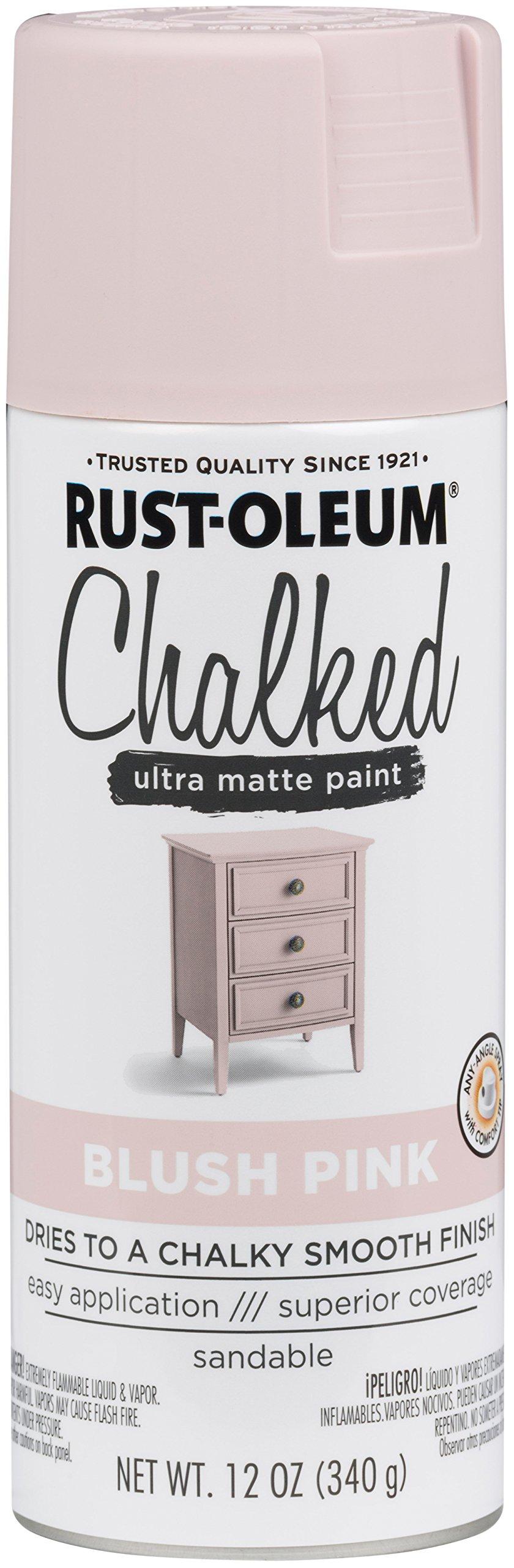 Rust-Oleum 302594 Series Chalked Ultra Matte Spray Paint, 12oz, Blush Pink