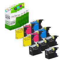 TCT Compatible Ink Cartridge Replacement for Brother LC79 LC79BK LC79C LC79M LC79Y Super High Yield Works with Brother MFC-5910DW J6510DW J6710DW J6910DW Printers (B, C, M, Y) - 10 Pack