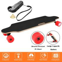 Aceshin Youth Electric Skateboard Electric Longboard 12 MPH Top Speed, 250W Motor,7 Layers Maple Motorized Longboard with Remote Control Gift for Adult Teens E-Skateboard