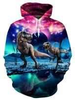 AIDEAONE Men Women Fleece Hoodie Realistic 3D Patterns Print Athletic Hooded Pullover Sweatshirt