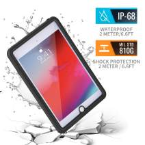 meritcase iPad Mini 5 Waterproof Case 2019, Shockproof Dustproof Full-Body Heavy Duty Protective Case with Built-in Screen Protector & Dual Layer Design for Apple iPad Mini 5Gen(7.9inch)-Clear Black