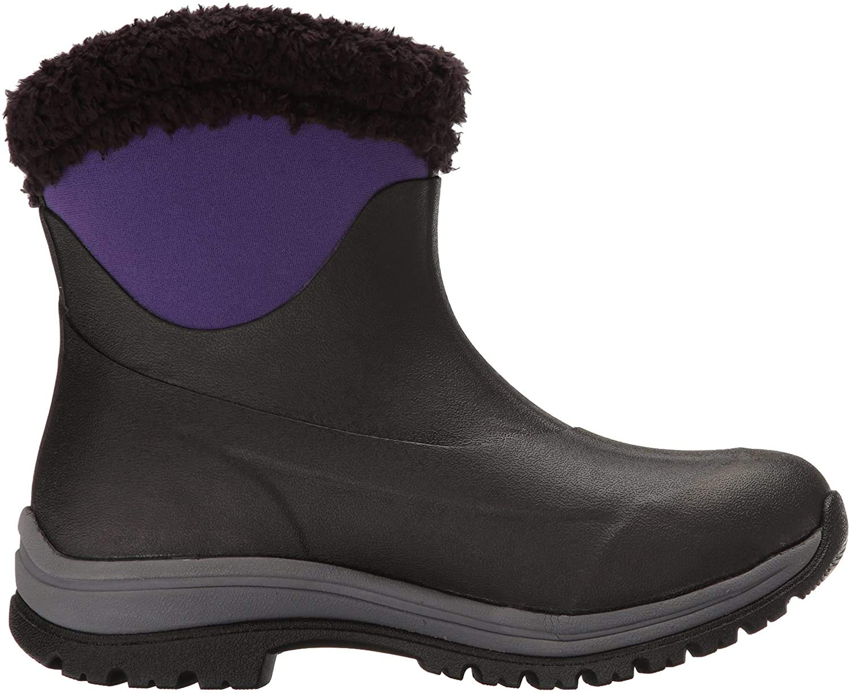 Muck Boot Company Womens Arctic Apres Black/Parachute Purple Winter Boots (AP8-500-PUR)