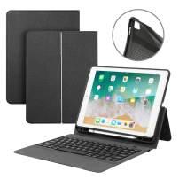 iPad Keyboard Case 9.7 for iPad 2018 6th Gen iPad 2017 5th Gen iPad Pro 9.7 iPad Air 2 Air 1 iPad Case with Wireless Bluetooth Keyboard Auto Sleep/Wake One-Piece Smart Case Cover & Pencil Holder