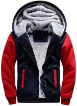 GEEK LIGHTING Hoodies for Men Heavyweight Fleece Sweatshirt - Full Zip Up Thick Sherpa Lined