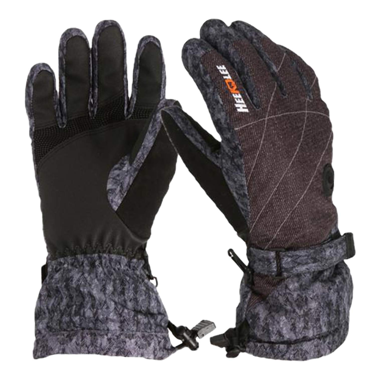LuvnFun Kids winter gloves - snow & ski gloves for cold weather Thinsulate Cotton warm waterproof gloves for boys and girls