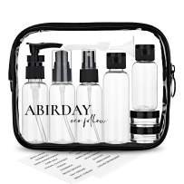 Travel Bottles Containers & Travel Size Toiletries Accessories Bottles with Toiletry Bag for Liquids Leak-Proof & TSA Approved Carry-on for Airplane - Women/Men (SET-A 12-in-1)