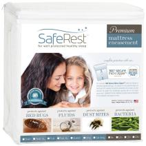 SafeRest Premium Zippered Mattress Encasement - Lab Tested Bed Bug Proof, Dust Mite and Waterproof - Breathable, Noiseless and Vinyl Free (Fits 6-9 in. H) - Queen Size