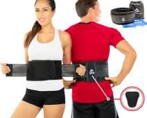 Lumbar Support Belt - Back Brace for Back Pain Relief, Herniated Disc, Sciatica, Scoliosis, Men & Women, Breathable Design Lumbar Pad & Adjustable Straps | Bonus Resistance Band & Carry Bag (S/M)