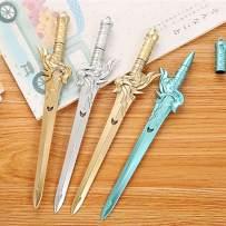 WIN-MARKET Colorful Swords Gel Ink Pen Cute Kawaii Black Writing Pens Ballpoint Black Ink Gel Pen Party Gift Gel Ink Pens Funny School Stationery Office Supplies(8PCS)