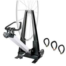BIKEHAND Bike Wheel Professional Truing Stand Bicycle Wheel Maintenance - Great Tool for Rim Truing with Free Spoke Wrenches and Heavy Duty Base
