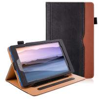 ZoneFoker All New Kindle Fire 7 Tablet Leather Case (9th/7th Generation,2019/2017 Released), [Corner Protection][Auto Sleep/Wake] Lightweight Multi-Angle Viewing Folio Stand Cover Cases - Black/Brown