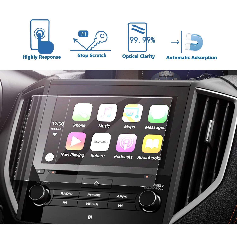 LFOTPP 2018 2019 Crosstrek Starlink 8-Inch Car Navigation Screen Protector, [9H Hardness] Tempered Glass Infotainment Center Touch Display Screen Protector Anti Scratch High Clarity