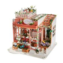 CONTINUELOVE Miniature Doll House with Furniture - Led Lights and Dust Cover - DIY Wooden Toy House Kit - Best Toys and Home Decoration (K050)