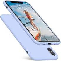 DTTO iPhone Xs Max Case, 7 Colors Silicone Case [Romance Series] Slim Fit Cover with Hybrid Protection for Apple iPhone 10s Max 6.5 Inch (2018 Released)- Light Blue